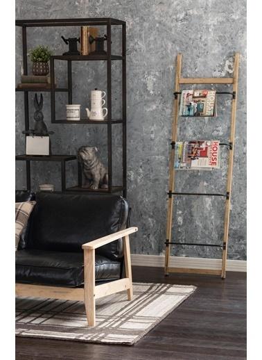 Warm Design Merdiven Askılık Duvar Dekoru Kahve